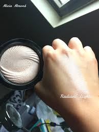 this is the makeup revolution baked highlighter in radiant lights photo by alicia almond