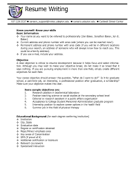 Writing Resume Objective Resume Objective Statement Example How To Write A For Customer 55
