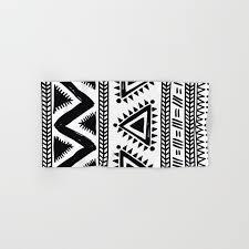 black and white bath towels. Tribal Black And White Hand \u0026 Bath Towel Towels Society6