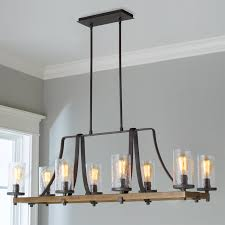 industrial lighting chandelier. Industrial Farmhouse Wavy Glass Island Chandelier - 8 Light Slate_gray_metal Lighting S