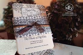 Lace Letterpress Vintage Wedding Invitation By Lela New York