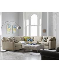 Macys Living Room Furniture Kelly Ripa Ampton 3 Pc Apartment Sectional With Wedge Only At