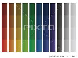 Color Pattern Gradation Chart Chart Stock Illustration