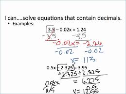 solving one step equations worksheet best of 2 step equation worksheets