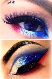 patriotic red white and blue 4th of july makeup tutorial
