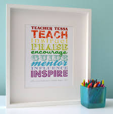 teacher rules personalised poster great gifts for teachers featuring uplifting words room for a personalised message from her student s