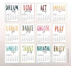 inspirational printable 2017 calendar inspirational calendar ninka studio