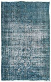 turquoise over dyed turkish vintage rug 5 7 x 8 11 67 in x 107 in