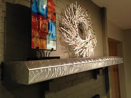 stainless steel fireplace mantels stainless steel floating shelves