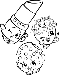 Coloring Pages Shopkins Coloring Pages Cartoon Stunning Pictures