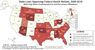 State Laws And Actions Challenging Certain Health Reforms