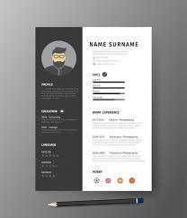 Resume Modern Ex Clean Modern Design Template Of Mono Resume Or Cv Vector