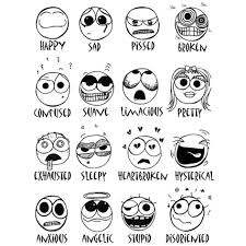 Small Picture Coloring Download Emotion Faces Coloring Pages Emotion Faces