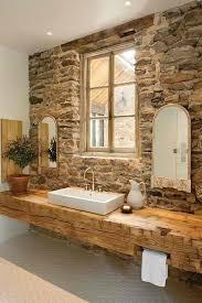 rustic stone bathroom designs. gorgeous design rustic stone bathroom designs 7 5 with wood sink top a