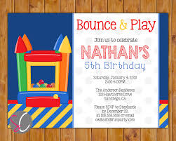 bounce house birthday party invitation scadesigns printables blow up bounce house jump party