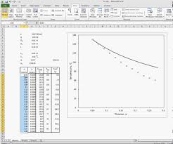 thermal conductivity excel calculations