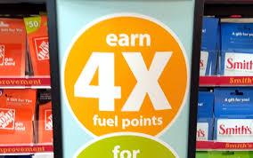 kroger 4x fuel points august 2016