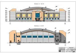 Проект по ПГС Спортивный комплекс с залом в г Нарьян Мар 1 Фасады