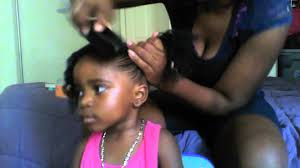 Toddler Curly Hairstyles Natural Hair Styles For Toddlers Two Curly Pony Tails Youtube