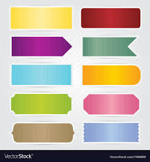 Labels With Border Labels Tags Banners With White Border Design