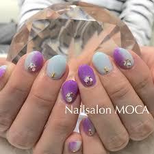 縦グラデーションネイル Nail Salon Moca伊勢市ネイルサロン