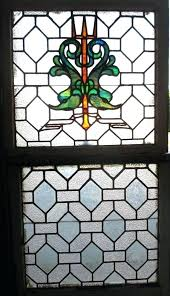 stained glass nautical stained glass windows pair antique sea serpents trident
