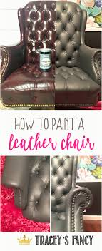 diy paint leather sofa painting a gray leather chair an easy home fice update