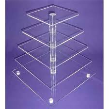 Acrylic Food Display Stands acrylic cupcake stands China 100Tier Acrylic Bakery Display Case 94