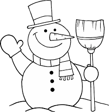 Small Picture Snowman Coloring Pages Within Page itgodme