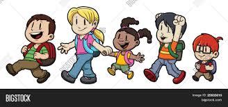 Resultado de imagen de niños caminando animados