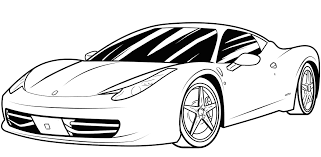 Sports Car Coloring Pages Erf Coloring