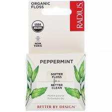 <b>Organic Peppermint Floss</b>, 55 yds (50 m) for sale online