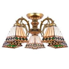 tiffany chandelier lighting five light bronze armed cone stained glass chandelier ceiling light tiffany style chandelier