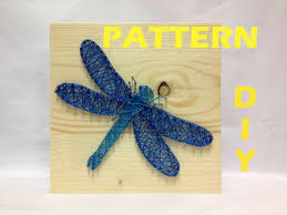 Diy String Art Pattern Dragonfly Pattern And Instructions How To .