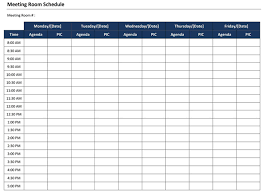 Meeting Room Scheduler Template Conference Room Calendar Calendar Template 2019