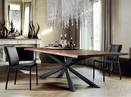 der wood dining table by cattelan italia tables with metal base inspirations 7