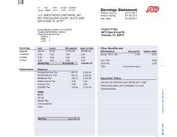 Check Stub Calculator Adp Pay Check Stub Sample Free Template With Calculator Paycheck