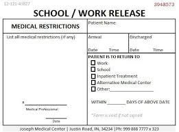 Doctors Note Release To Work