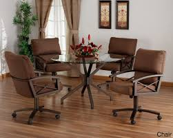 swivel dining room chairs. Chair Caster Dining Room Chairs Table Wheeled Casters Kitchen Swivel With Set Inpretty 23 C