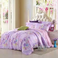 aliexpress com light purple lilac mauve lavender bedding set fl queen king size quilt duvet cover designer sheets bed in a bag linen silk from