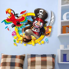 3d waterproof removable pirate wall stickers window decal gifts home decor