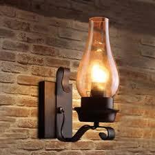 wall lantern indoor. Image Is Loading Vintage-Chimney-Glass-Rust-Metal-1-Lamp-Indoor- Wall Lantern Indoor