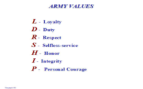 army values powerpoint presentation com army values powerpoint presentation