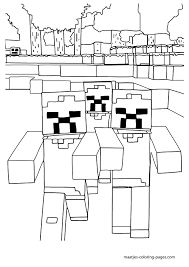 Minecraft Herobrine Coloring Pages Getcoloringpagescom