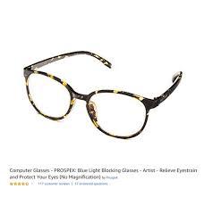 Prospek Blue Light Glasses Computer Glasses Prospek Blue Light Blocking Glasses
