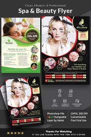 Spa Hair Beauty Flyer Corporate Identity Template