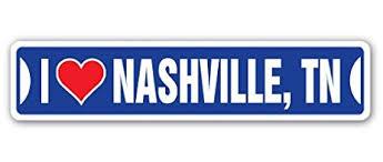 Nashville Sign Decor Amazon I LOVE NASHVILLE TENNESSEE Street Sign tn city state 55