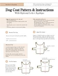 Free Dog Coat Sewing Pattern