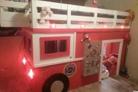 firefighter dad builds realistic diy firetruck bed for his son photos huffpost
