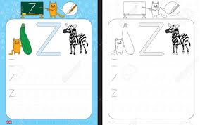 Letter Practicing Worksheet For Practicing Letter Writing Tracing Letter Z